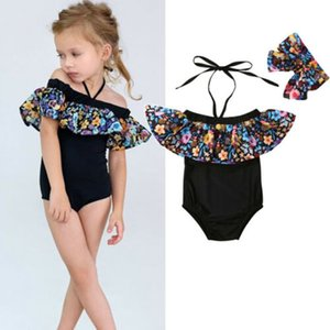 Focusnorm New Fashion 2PCS Kids Baby Girls Flower Ruffle Swimwear Bikini Tankini Swimsuit Bathing Suit C0302