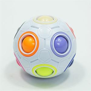Magic Rainbow Puzzle Ball Speed Cube Ball Puzzle Game Fun Stress Reliever Magic Ball Brain Teaser Fidget Toys for Children Teens Adults ADHD