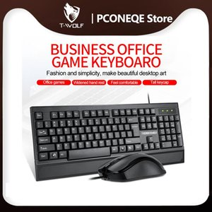 Keyboards Home Office Wired Computer Keyboard Mouse Combo Ergonomic USB Desktop Classic Standard 104 Keys For PC Laptop Notebook