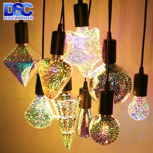 3D Dekorasyon LED Ampul E27 6 W 85-265 V Vintage Star Fireworks Edison Ampul Lamba Tatil Gece Lambası Yenilik Noel Ağacı
