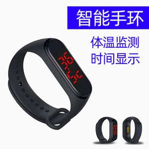 V8 smart watch time date one key temperature silicone Sports Wristband Bracelet