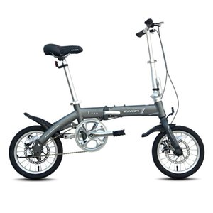 14inch Folding Bike Light Aluminum Alloy cycling bicycle for Youth with disc brake Student bike Silver