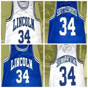 Barato retro personalizado # 34 Jesús Shuttleworth College Basketball Jersey Hombres cosido blanco Cualquier tamaño 2XS-5XL Nombre y número Envío gratuito