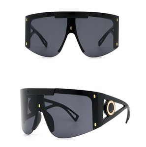 10pcs 공장 가격 대형 사각형 선글라스 여성 남성 여름 스타일 큰 크기 프레임 거울 태양 안경 여성 oculos uv400 9 색상