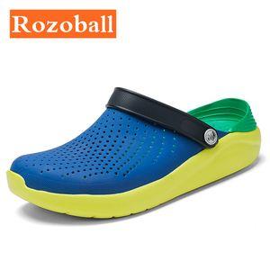 Summer Mens Sandals Beach Sports Big Size 46 Women Men's Slip-on Shoes Slippers Female Male Croc Clogs Crocks Men Water Mules 210301