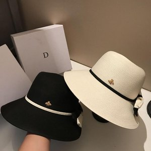 2021 여름 접을 수있는 휴가 해변 모자 고품질의 태양 모자 womens wide brim hats 조수 2 색 어부 모자 무료 배송