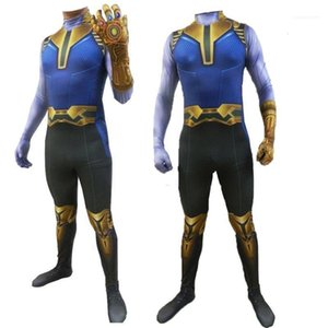 Costume Long Sleeved Tights Movie Stars Halloween Cosplay Party Dress Thanos Theme