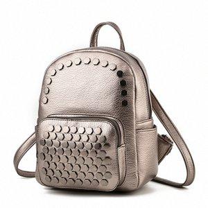 2020 New Studded Bag Summer Womens Backpack Student Bag Shoulder Gold Mini Backpacks For Women Personalized Backpacks Hunting Backpack j0Om#