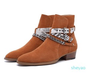 Leather new list fashion trend Europe and America Martin boots personality wild first layer of leather men's shoes 6181