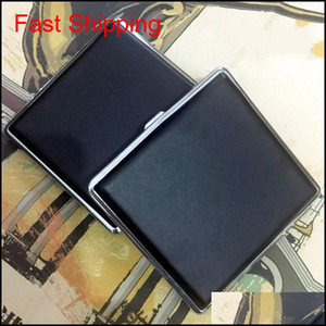 New Fashion 20Pcs Metal Cigarette Case Clip Personality Automatic Cigarette Holder Box Black And Checked Smoking Container Hot Sale Qj Quucs