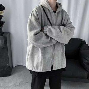 New spring cardigan fashion Harajuku jacket, men's versatile loose thin Hoodie