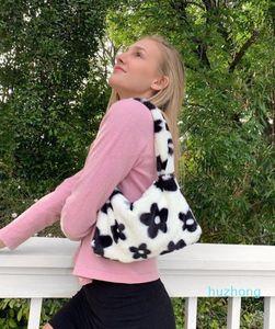 Bohemian Straw Flower Bags For Women Beach HandIns Flower Bags Summer Vintage Rattan Ins Flower Bag Handmade Kintted Crossbody Ins Fl#34