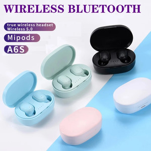 A6S TWS Headphone Bluetooth 5.0 Wireless Earbuds Life Waterproof Bluetooth Headset Earphone With Mic For Cell Phone