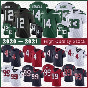 14 Sam Darnold 12 Joe Namath 33 Jamal Adams New YorkFutbol Forması 4 Deshaun Watson 99 J.J. Watt houstonDikişli formalar