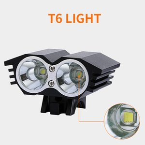 Mountain Bike Headlights   Taillights 3 Bright T6 Lamp Bead 4*18650 Lithium Cell Suit Bike Light bicycle light accessories 2021