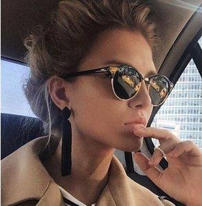 2020 Sunglasses Women Popular Brand Designer Retro Men Summer Style Sun Glasses Rivet Frame Colorful Coating Shades Uv400