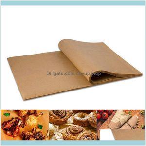 Dinnerware Kitchen Supplies Kitchen, Dining Bar Home & Garden100Pcs Paper Baking Liners Sheets, Precut 30X40Cm Non-Stick Wax For Cook, Grill