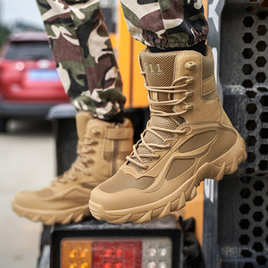 Er5 Autumn Ankle Track Military Boots of Men Army Work Shoes Tactical Special Forces Fighting Desert-to-free Male Hwcg
