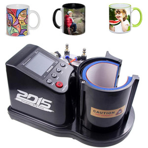Free shipping Custom Mug Printer Pneumatic Automatic ST-110 Sublimation Mug Heat Press Machine EWD5356