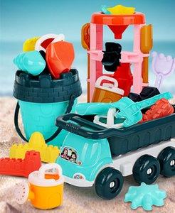 7шт / набор детских пляжных игрушек для игрушек для детей для детей песочные формы песка замок для песка инструмент корзина лопаты ведро открытый игрушка