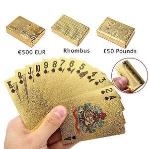 54 шт. / Установите водонепроницаемый доллар США Pattern Poker Poker Table Game Game Card Collection Интересные покерные карты идеально подходят для игры