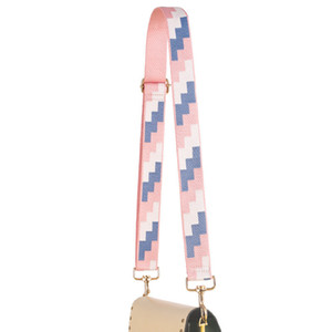 Custom wholesale! Tetris Printing Canvas Bag Strap Women Straps for Crossbody Shoulder Bag Accessories Adjustable Shoulder Belts C0225