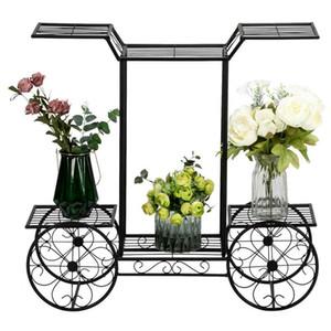 Soporte de carro de jardín de 6 niveles Pantalla de rack de flores Pantalla de maceta de flor