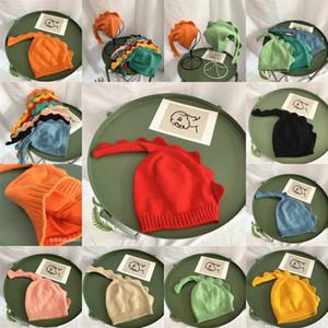 Fall Children Hats Cartoon Knit Winter Kids Long Tail Dinosaur Baby Hats Fashion Boys Girls Warm Caps Cute Dinosaur Knitting Hat S831 JF5O