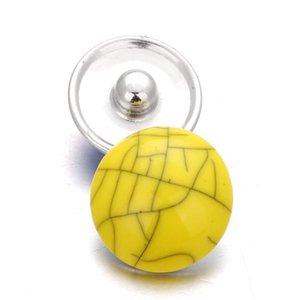 10pcs lot Random Deliver Resin Snap Stone Bohemian 18mm Metal Snap Button Watches Women Jewelry One D qylQcU