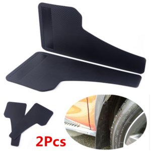 2x Universal Racing Car Mudflaps Wheel Molding Fender Plastic Guard Accesorios