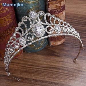 Mamojko Cubic Zirkon Braut Tiara Zirkonia Crown CZ Diadema Braut Krone Hochzeit Haarschmuck Bijoux Cheveux Tiaras Crowns J0121