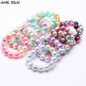 INS 12MM kids Jewelry Bracelet Colorful Beads Cute Design Princess gift