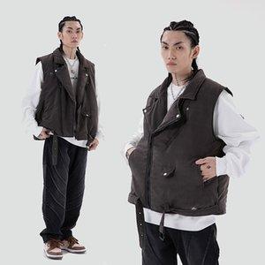2021 New Sem Mangas Com Zper Voar e Mulheres Harajuku Grosso Bluso De Inverno Dos Homens Para Baixo Casaco Jaquetas Streetwear Casual 4whk