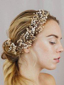 Vintage Wedding Headdress Crystal Khaki Handmade Fascia Fascia Fascia per le donne Zepazioni Bridal Hearwear Accessori per capelli per la sposa