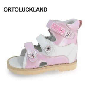 Ortoluckland Baby Girl Sandals Rose Pink Sandales Children's Cuir orthopédiques Chaussures de marche pour enfants Toddler Petites Tailles 210301