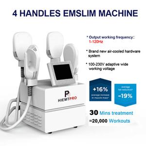 4 poignées Emslim Hiemt Body Faturant Machine Tesla EMS Stimulation de muscle électromagnétique Stimulation de la graisse Burning Matériel de beauté