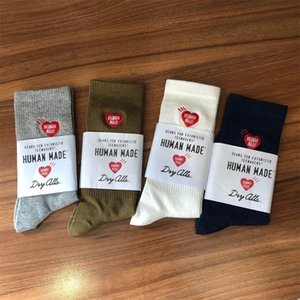 Human Made Socks Harajuku Gifts For Men Women Basketball Hip Hop Cotton Long Sport Sock Running Japanese Designer Street Style Embroidery