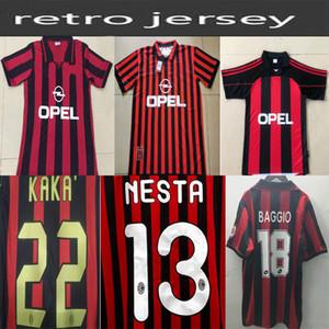 Promotion1962 1963 2007 2002 2003 2004 AC Milan Gullit Soccer Jersey 1988 96 97 Van Basten Kaka Inzaghi Camisa de fútbol adulto