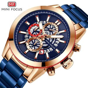 Mini focus multi function movement calendar luminous waterproof fine steel strap men's watch 0285g