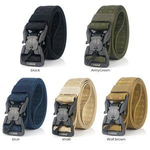 Official Genuine Tactical Belt Hard PC Quick Release Magnetic Buckle Belt Soft Real Nylon Sports Accessories