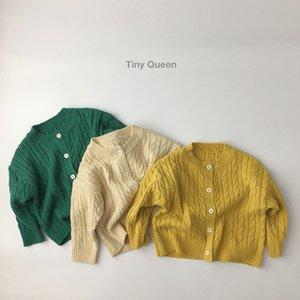 WD INS Toddler Korean Kids Boys Girls Cardigan Spring Long Sleeve Sweater Cardigan Kids Long Length Winter Clothes Sweaters