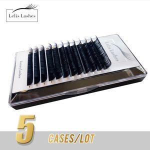 Lelis Lash Wholesale Extensions de cils Core coréen PBT Silk Silk cils russes Volume Volume Cils de mignon pour maquillage Soft Cils