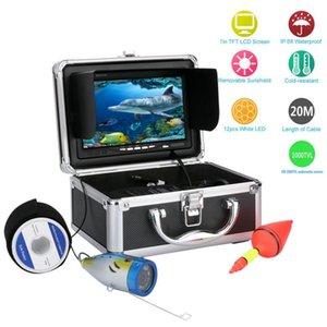 Fish Finder GAMWATER 20M 1000tvl Underwater Fishing Video Camera Kit 12 PCS LED Lights With7