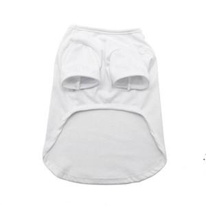 Sublimation Blank White DIY Vest Pet Dog Sleeveless Thin Vest Small Pet Heat Transfer Print Pet T-shirt AHC6358