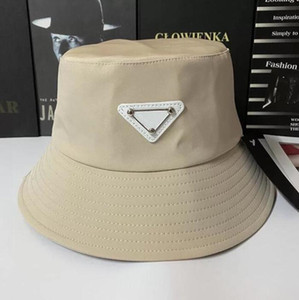Color puro Alta Calidad Unisex Unisex Cubo plegable Sombrero Mujeres Sunscreen Playa Sombrero Sombrero Headwear Pescador Cap Moda Nylon Cubo