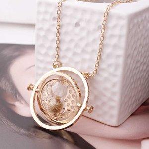 Ювелирные Изделия Гарри Поттер Время преобразователь часов Песочные часы Ожерелье Мужчины и женские модные свитер цепь