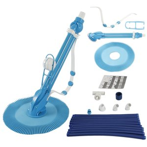 Swimming Pool Automatic cleaning machine Sweepers 10 pieces Blue hose sleeve Easy to install Power supply not included