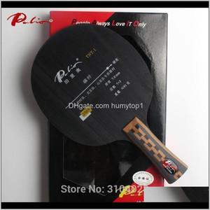 Palio Resmi TNT-1 Masa Tenisi Bıçak 7wood 2Carbon Pekin Shandong Takım Oyuncu Ping Pong 201019 8zaov için Özel Loop ile Hızlı Saldırı