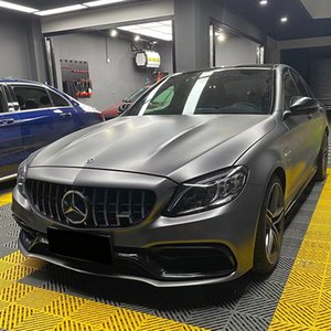 High Quality Satin Metallic Gray Vinyl Sheet Car Wrap Film Foil with Air Release DIY Stickers Wrapping 1.52x18m 5x59ft