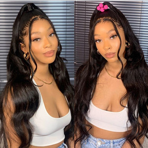 2021 new Body Wave 13x4 Front Wigs Pre Plucked with Baby Hair Brazilian Human Hair Long Lace Frontal Wigs for Black Women